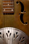 Dobro guitar detail