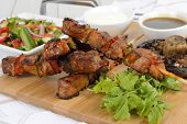 stock photo of souvlaki  - Pork Kebabs  - JPG
