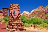 Signo de Zion National Park