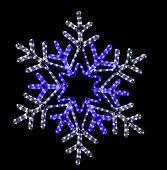 Festive Snowflake Street Light Decoration on Black Background