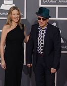 LOS ANGELES - FEB 12: DIANA KRALL & ELVIS COSTELLO arriving to Grammy Awards 2012  on February 12, 2