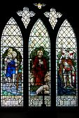 pic of stained glass  - Stained Glass Window of Saint Christopher  - JPG