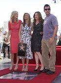 LOS ANGELES - FEB 22:  MALIN AKERMAN, JENNIFER ANISTON, KATHRYN HAHN & ADAM SANDLER arriving to Walk of Fame Ceremony for Jennifer Aniston  on February 22, 2012 in Hollywood, CA