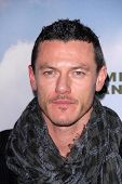 LOS ANGELES - DEC 6:  Luke Evans arrives at the 'Promised Land' Premiere at Directors Guild of Ameri