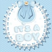 it`s a boy baby shower on bib