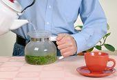 Man Making Herbal Tea poster