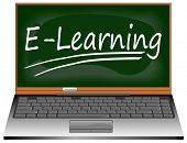 Laptop com E-Learning