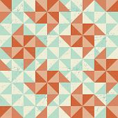 Seamless geometric pattern with origami elements.