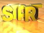3D Word Start On Yellow Background
