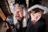 Father And Son Wizards Yelling
