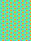 Colored Dots On White Dots Bright Green