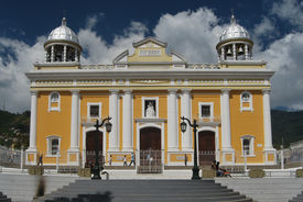 stock photo of shepherdess  - Old church of Caracas dedicated to the Divine Shepherdess with a long history and tradition in Venezuela - JPG