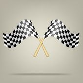 Checkered Racing Flags. Vector Illustration.