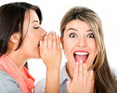 picture of top-secret  - Women gossiping and telling a secret  - JPG