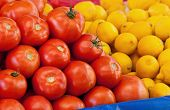 Fresh Organic Tomato And Lemons
