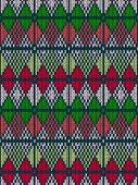 Style Seamless Knitted Pattern.Red Green White Color Illustratio