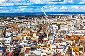 City View Bridge Churches From Giralda Tower Seville Cathedral Spain