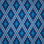 stock photo of blue tabby  - Seamless style blue knitted pattern - JPG