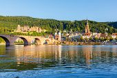 stock photo of chateau  - Bridge in Heidelberg - JPG
