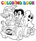 Coloring book Halloween character 8 - eps10 vector illustration.
