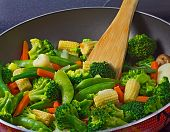 Close-up Of Stir Fry Vegetables