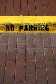 No Parking Sign On Kerb In Celebration Florida United States Usa
