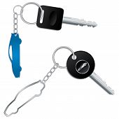 Keys With Car Shaped Keyholders