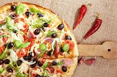 Delicious Country Style Pizza.