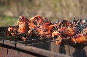 Barbecue. Shashlik (kebab).