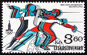 Postage Stamp Czechoslovakia 1980 Fencing, Olympic Games, Moscow