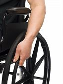 Hand On Wheel Chair
