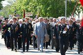 Russian Veteran's Parade May 9, 2009 In Sevastopol, Ukraine.
