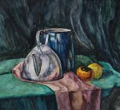 Still Life With Metal Teapot And Milk-can