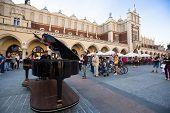 KRAKOW, POLAND - SEN 8: View of the Main Square, Sen 8, 2013 in Krakow, Poland. It dates to the 13th