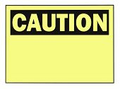 picture of osha  - OSHA caution warning sign with copy space isolated on white - JPG