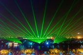 abstract laser light at night