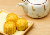 Mooncake and teapot