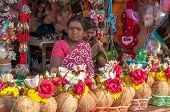 Saleswoman On The Chamundi Hills