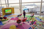 HONG KONG, CHINA - MAY 21: playroom in Hong Kong International Airport on May 21, 2013 in Hong Kong,