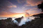 Tropical sunset at Laupahoehoe Point on the Big Island of Hawaii.