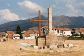 Destroyed German Military cemetary in Prilep
