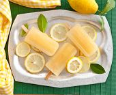 Fresh Lemon Popsicles
