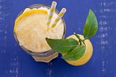 Homemade Granita From Fresh Lemons