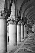 Colonnade Of The Palazzo Ducale
