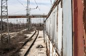 picture of railcar  - Abandoned sidetracked rail - JPG