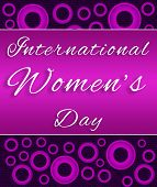 Womens Day Purple Pink Circles