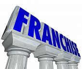 Franchise Word Marble Columns Established Strong Business Brand