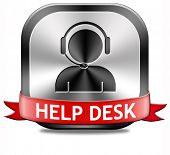 help desk button or online support call center customer service
