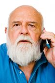 Caucasian Man Talking On Mobile