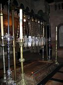 Stove Of  Anointing. Church Of Holy Sepulchre.
